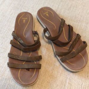 Tan sandals. Like new!